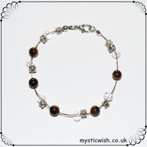 delicate tigerseye bracelet