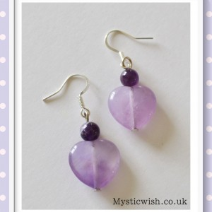 earrings amethyst heart
