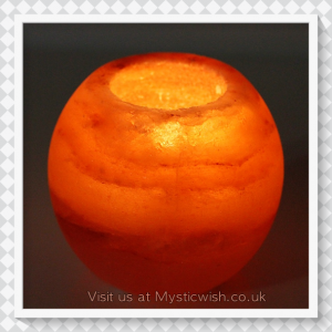 tealight holder himalayan salt