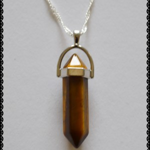 Point pendant tigerseye necklace