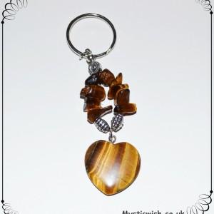 crystal keyring tigerseye