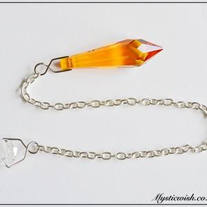 pendulum yellow crystal