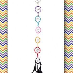 dream catcher chakra coloured