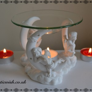 oil burner cherubs moon