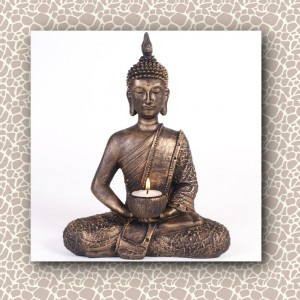 buddha bronze candle tae light holder