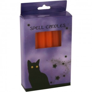 box of orange spell cndles
