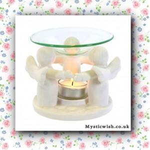 ceramic white angel oil burner