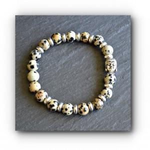 Buddha dalmatian jasper bracelet