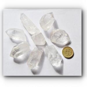 natural small quartz points