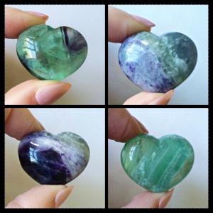 hearts mini fluorite