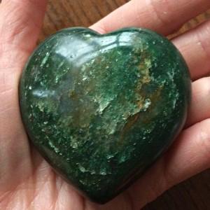 Aventurine heart Green
