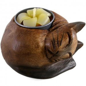 tealight holder cat