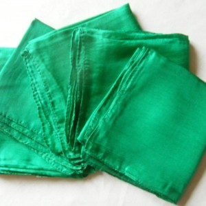 green silk wrap