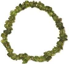 peridot chip bracelet healing