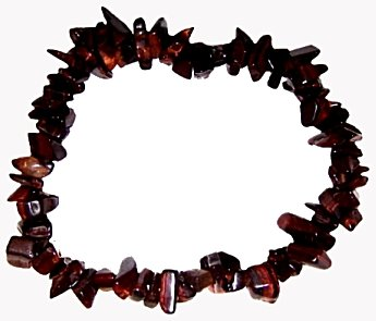 red tigers eye chip bracelet healing