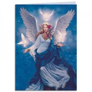 Angel flight greetings card