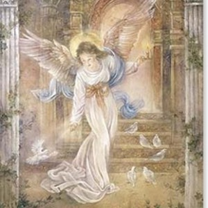 Guardian angel collectors greetings card