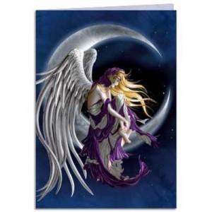 moon dreamer greetings card