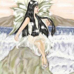 Sea fairy greetings card