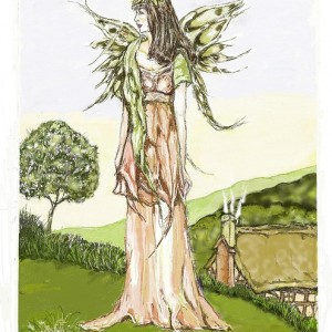 Summer goddess-greetings-card