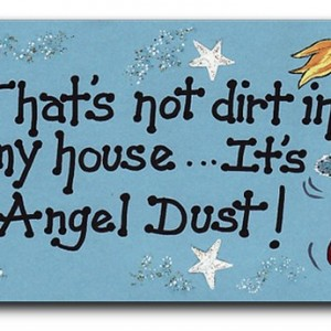 angel dust fridge magnet