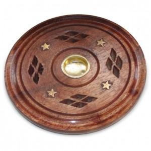 diamond wooden ash catcher cone holder