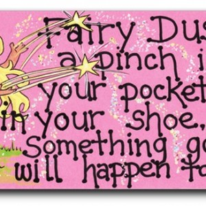 fairy dust fridge magnet
