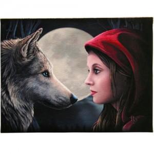 moon struck greetings card by Lisa Parker