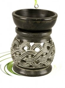 celtic knot soapstone oil burner