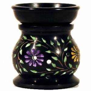 colour flower soapstone burner