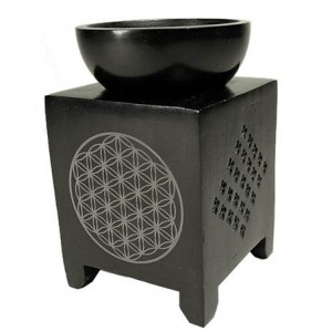 flower of life soapstone oil burner
