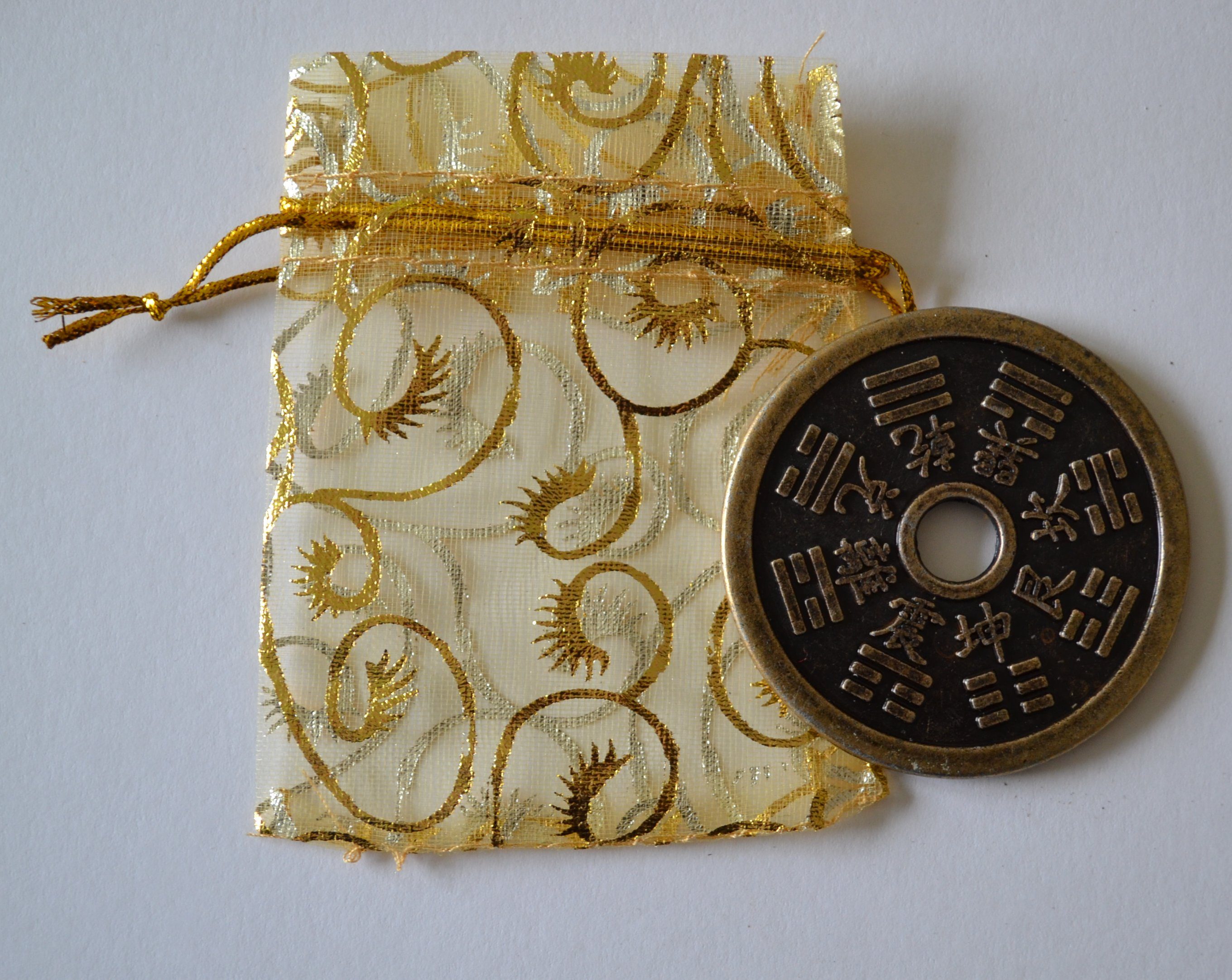 Large Lucky Chinese Zodiac Coin Gift Bag Mystic Wish