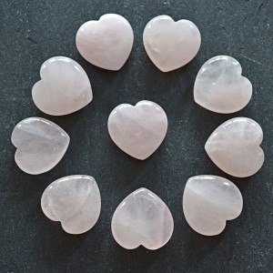 Hearts rose quartz