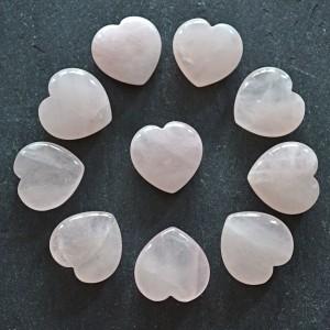 Hearts rose quartz