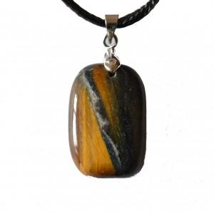 tigerseye healing crystal pendant