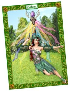 Beltane wiccan pagan greetings card