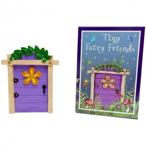 purple fairy door yellow flower
