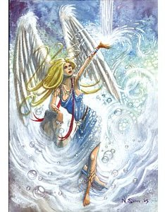 angel gabriel greetings card