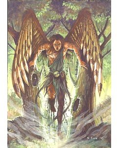 archangel uriel greetings card