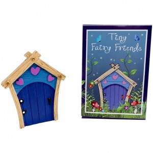 blue hearts fairy door