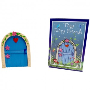 blue hearts flowers fairy door