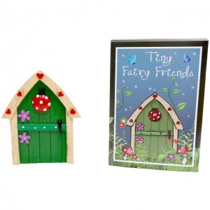 green ladybird fairy door