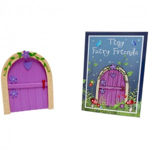 lilac fairy door heart flowers