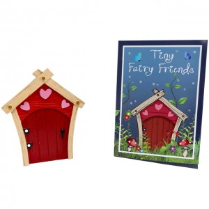 red pink hearts fairy door