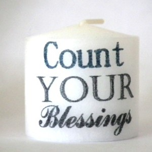 candle count your blessings