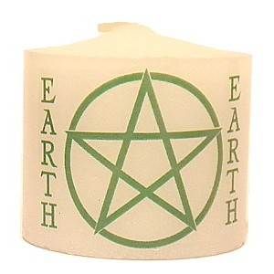 candle earth pentacle
