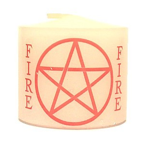 candle fire pentacle
