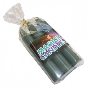 green magic spell candles