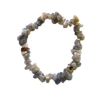labradorite crystal chip bracelet