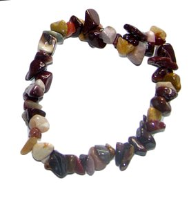 mookite crystal chip bracelet
